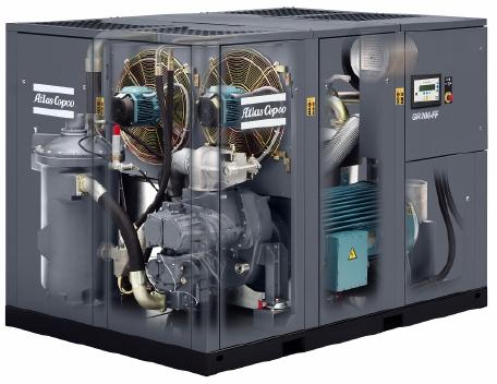 阿特拉斯喷油螺杆空压机两级压缩GR110KW-GR132KW-GR160KW-GR200K
